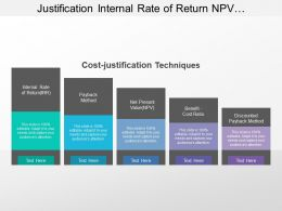 Justification Internal Rate Of Return Npv Payback Method