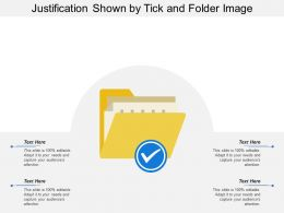 Justification Shown By Tick And Folder Image