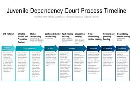 Juvenile Dependency Court Process Timeline