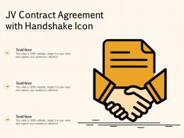 JV Contract Agreement With Handshake Icon