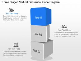 jv Three Staged Vertical Sequential Cube Diagram Powerpoint Template