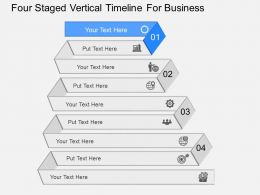 jw Four Staged Vertical Timeline For Business Powerpoint Template