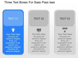 jw Three Text Boxes For Saas Pass Iaas Powerpoint Template