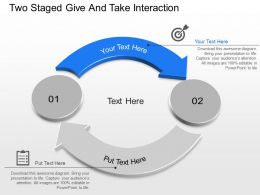 Jw Two Staged Give And Take Interaction Powerpoint Template