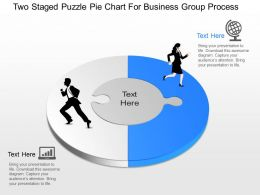 jw Two Staged Puzzle Pie Chart For Business Group Process Powerpoint Template