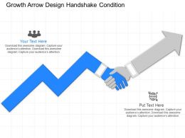 jx Growth Arrow Design Handshake Condition Powerpoint Template