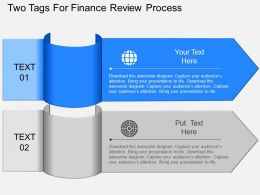 jx Two Tags For Finance Review Process Powerpoint Template