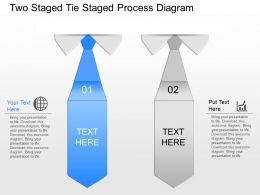 jy Two Staged Tie Staged Process Diagram Powerpoint Template