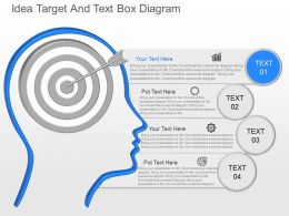jz Idea Target And Text Box Diagram Powerpoint Template