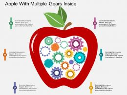 ka Apple With Multiple Gears Inside Flat Powerpoint Design
