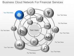 ka Business Cloud Network For Financial Services Powerpoint Template