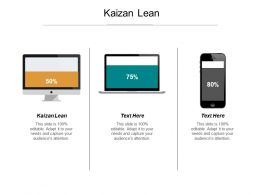 Kaizan Lean Ppt Powerpoint Presentation Infographics Introduction Cpb