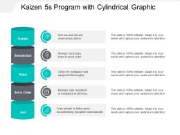 Kaizen 5s Program With Cylindrical Graphic
