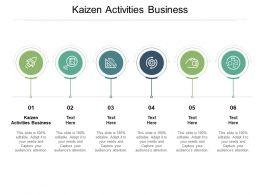 Kaizen Activities Business Ppt Powerpoint Presentation File Templates Cpb