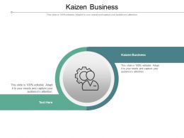 Kaizen Business Ppt Powerpoint Presentation Model Cpb