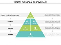 Kaizen Continual Improvement Ppt Powerpoint Presentation Ideas Outline Cpb