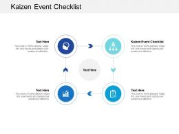 Kaizen Event Checklist Ppt Powerpoint Presentation Summary Example Topics Cpb