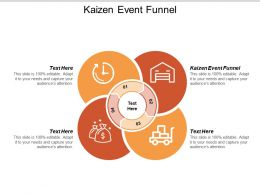 Kaizen Event Funnel Ppt Powerpoint Presentation Icon Background Designs Cpb