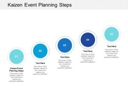 Kaizen Event Planning Steps Ppt Powerpoint Presentation Summary Clipart Images Cpb
