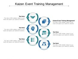 Kaizen Event Training Management Ppt Powerpoint Presentation Gallery Icon Cpb