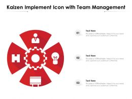 Kaizen Implement Icon With Team Management