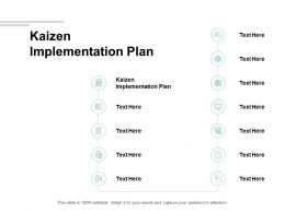 Kaizen Implementation Plan Ppt Powerpoint Presentation Clipart Cpb