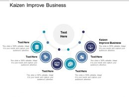 Kaizen Improve Business Ppt Powerpoint Presentation Slides Examples Cpb
