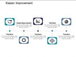 Kaizen Improvement Ppt Powerpoint Presentation Show Summary Cpb