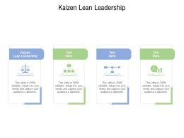 Kaizen Lean Leadership Ppt Powerpoint Presentation Styles Grid Cpb