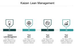 Kaizen Lean Management Ppt Powerpoint Presentation Portfolio Guide Cpb