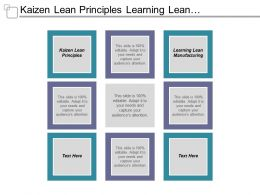 Kaizen Lean Principles Learning Lean Manufacturing Digital Marketing Management Cpb