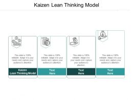 Kaizen Lean Thinking Model Ppt Powerpoint Presentation Styles Diagrams Cpb