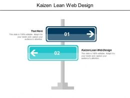Kaizen Lean Web Design Ppt Powerpoint Presentation Infographic Template Portrait Cpb