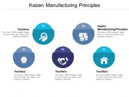 Kaizen Manufacturing Principles Ppt Powerpoint Presentation Summary Example Cpb