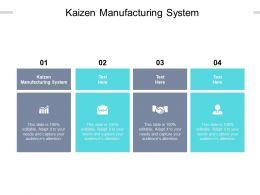 Kaizen Manufacturing System Ppt Powerpoint Presentation Icon Objects Cpb