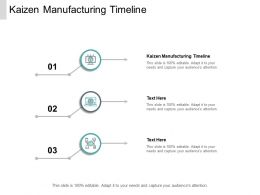 Kaizen Manufacturing Timeline Ppt Powerpoint Presentation Show Icon Cpb