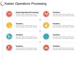 Kaizen Operations Processing Ppt Powerpoint Presentation Portfolio Model Cpb