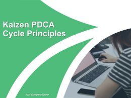 Kaizen Pdca Cycle Principles Powerpoint Presentation Slides