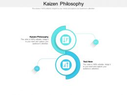 Kaizen Philosophy Ppt Powerpoint Presentation Visual Aids Diagrams Cpb