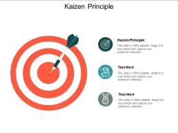 Kaizen Principle Ppt Slides Professional Cpb