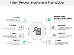 Kaizen Process Improvement Methodology Ppt Powerpoint Presentation Styles Graphics Cpb