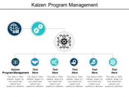 Kaizen Program Management Ppt Powerpoint Presentation Infographic Template Slideshow Cpb