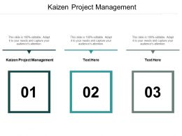 Kaizen Project Management Ppt Powerpoint Presentation Infographic Template Clipart Cpb