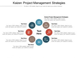 Kaizen Project Management Strategies Ppt Powerpoint Presentation Summary Cpb