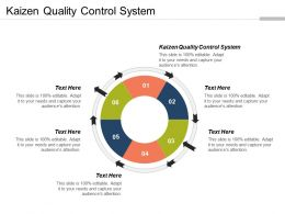 Kaizen Quality Control System Ppt Powerpoint Presentation File Guidelines Cpb