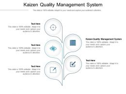 Kaizen Quality Management System Ppt Powerpoint Presentation Slides Demonstration Cpb