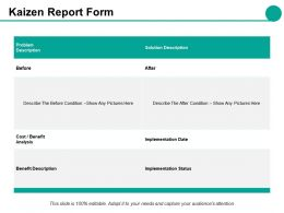 Kaizen Report Form Ppt Styles Guidelines