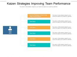 Kaizen Strategies Improving Team Performance Ppt Powerpoint Presentation Summary Smartart Cpb