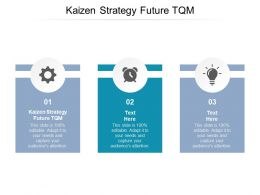 Kaizen Strategy Future TQM Ppt Powerpoint Presentation Visual Aids Show Cpb