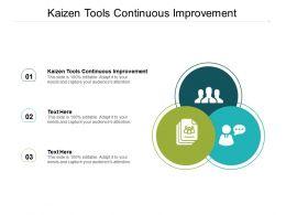 Kaizen Tools Continuous Improvement Ppt Powerpoint Presentation Slides Cpb